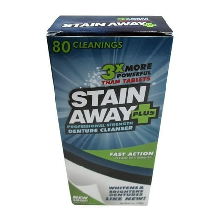 STAIN-AWAY PLUS DENTURE CLEANSER 8.1