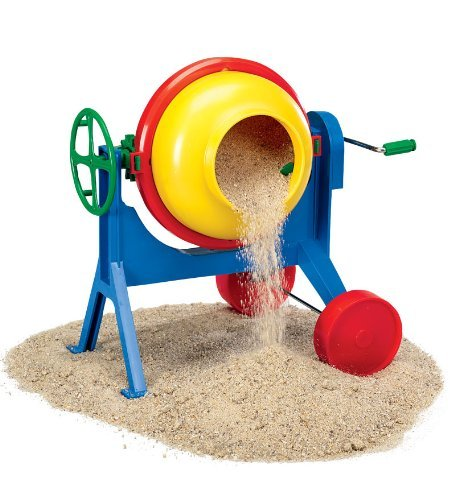 Durable Gear Driven Cement Mixer for Pretend Construction Fun, Mixes sand & water into a delightfully goopy mess By Lena... by