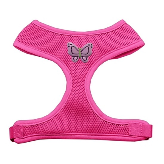 Image of Mirage 73-25 SMPK Purple Butterflies Chipper Pink Dog Harness Small
