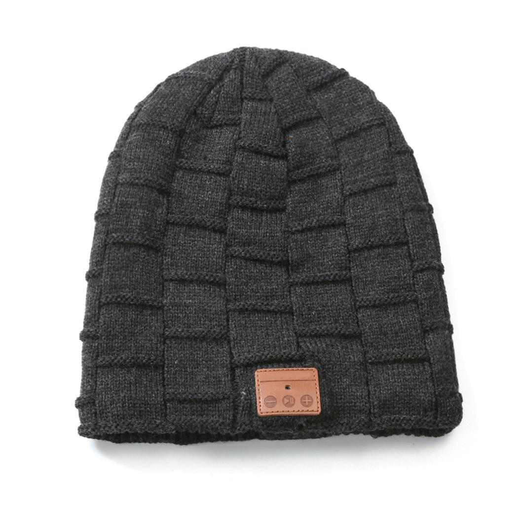 Unisex Soft Solid Wireless Earphone Bluetooth Beanie Hat Warm ... 0394025073e8