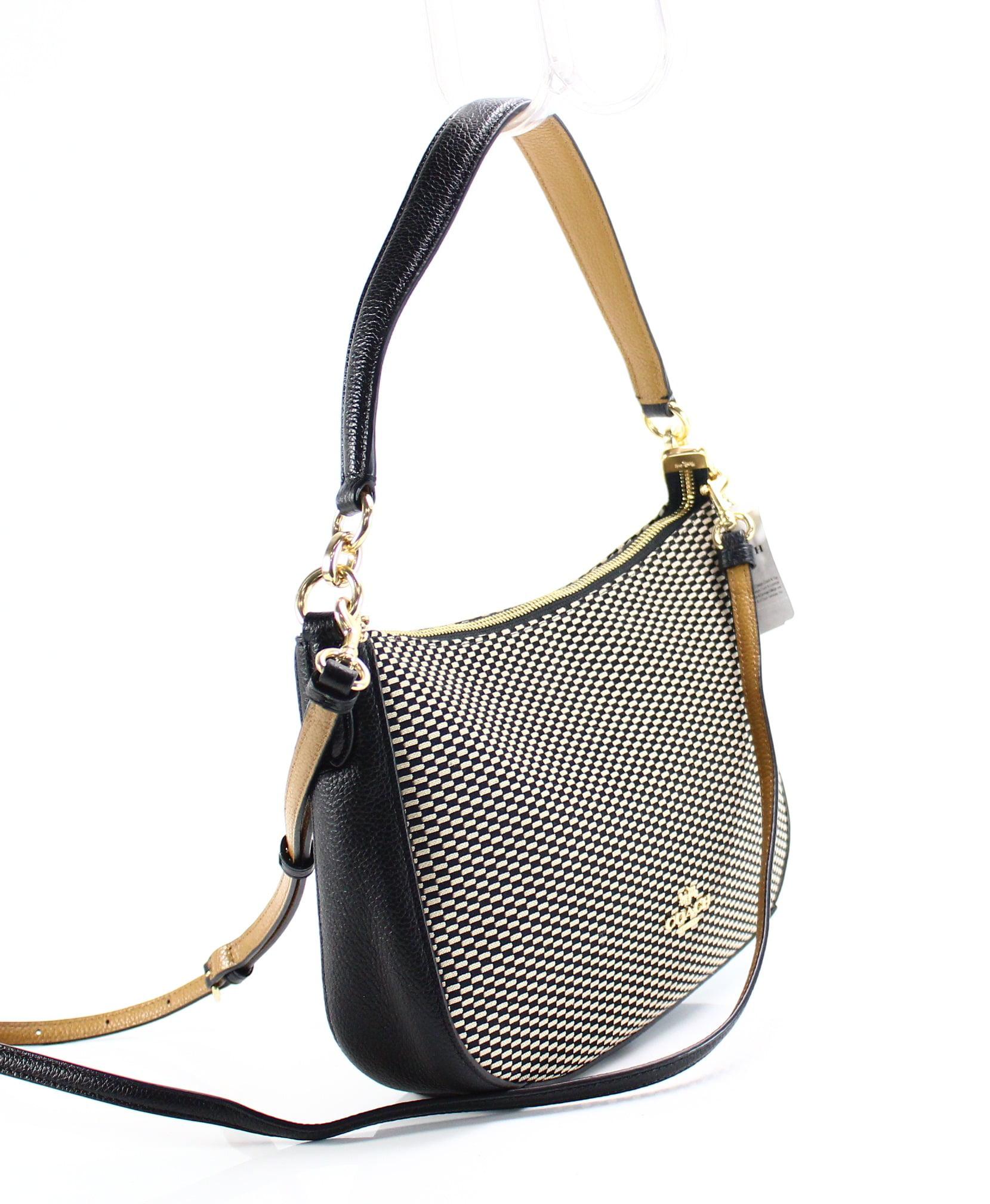 8fe01a8d Coach NEW Brown Black Legacy Jacquard Chelsea Crossbody Handbag Purse