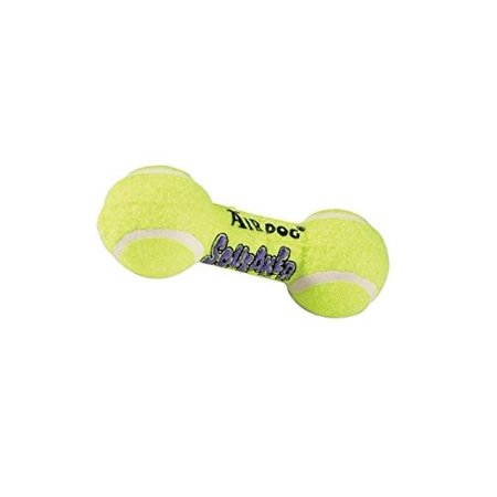 """AIR Squeaker Dumbell Dog Toy Heavy Duty Floating Dogs Squeak Toys Tennis Ball (Small Dumbbell - 5"""")"""
