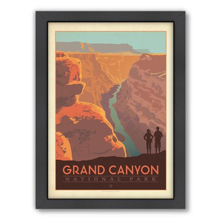 Americanflat Grand Canyon Arizona By Anderson Design Group Framed Vintage Advertisement