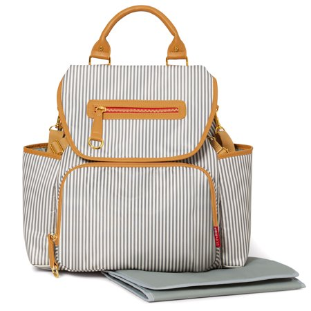 Skip Hop Grand Central Take-It-All Diaper Backpack, French Stripe