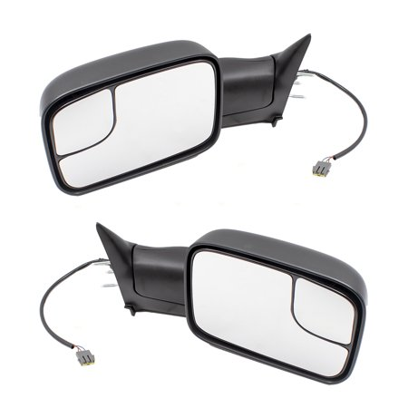 Pair Set Power Tow 7x10 Flip-Up Performance Upgrade Mirrors Replacement for 94-97 Dodge Ram Pickup Truck 55074917 55076612