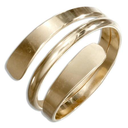 Modern Wrap Ring (12 KARAT GOLD FILLED HIGH POLISH WRAP AROUND BYPASS RING )