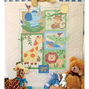 "Dimensions Baby Hugs ""Savannah"" Quilt Stamped Cross Stitch Kit, 34"" x 43"""