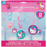Hello Kitty Hanging Birthday Party Decorations, 12pc