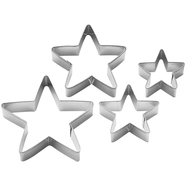 Wilton Metal Cookie Cutter Set, Stars, 4pc