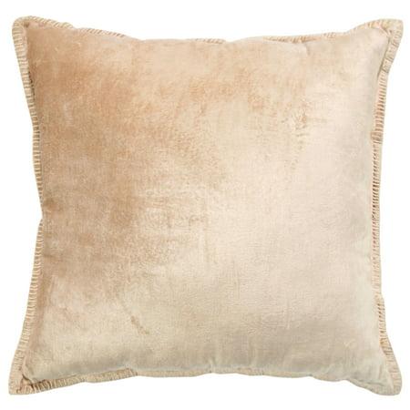 Intrade Global Cabana Velvet Throw Pillow Set Of 2 Peach With A Pair