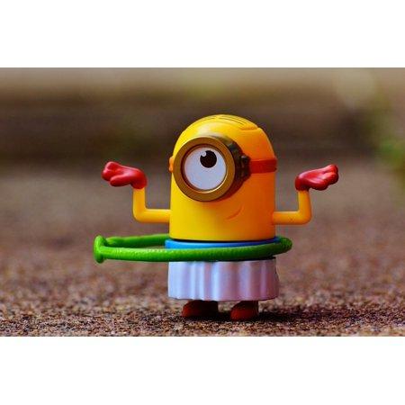 Cute Minions (Canvas Print Cute Minion Funny Children Fig Toys Stretched Canvas 10 x)