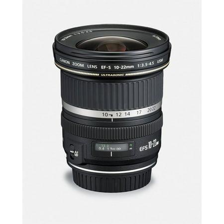 Canon EF-S 10-22mm f/3 5-4 5 USM Wide-Angle Lens Body Only Lenses, Black