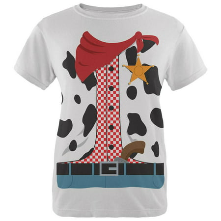 Halloween Cowgirl Costume Womens T Shirt - Cowgirl Outfits For Ladies