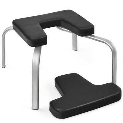 yoga iron headstand bench w/ pvc pads for family gymblack
