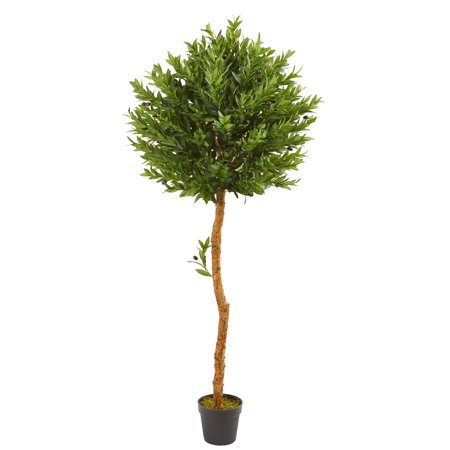 Nearly Natural 5.5-Ft. Olive Topiary Artificial Tree UV Resistant (Indoor/Outdoor) Olive Tree Topiary