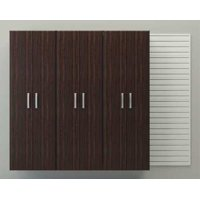 FLOW WALL FCS-9612-6W-3E Cabinet Set,Charcoal,Espresso
