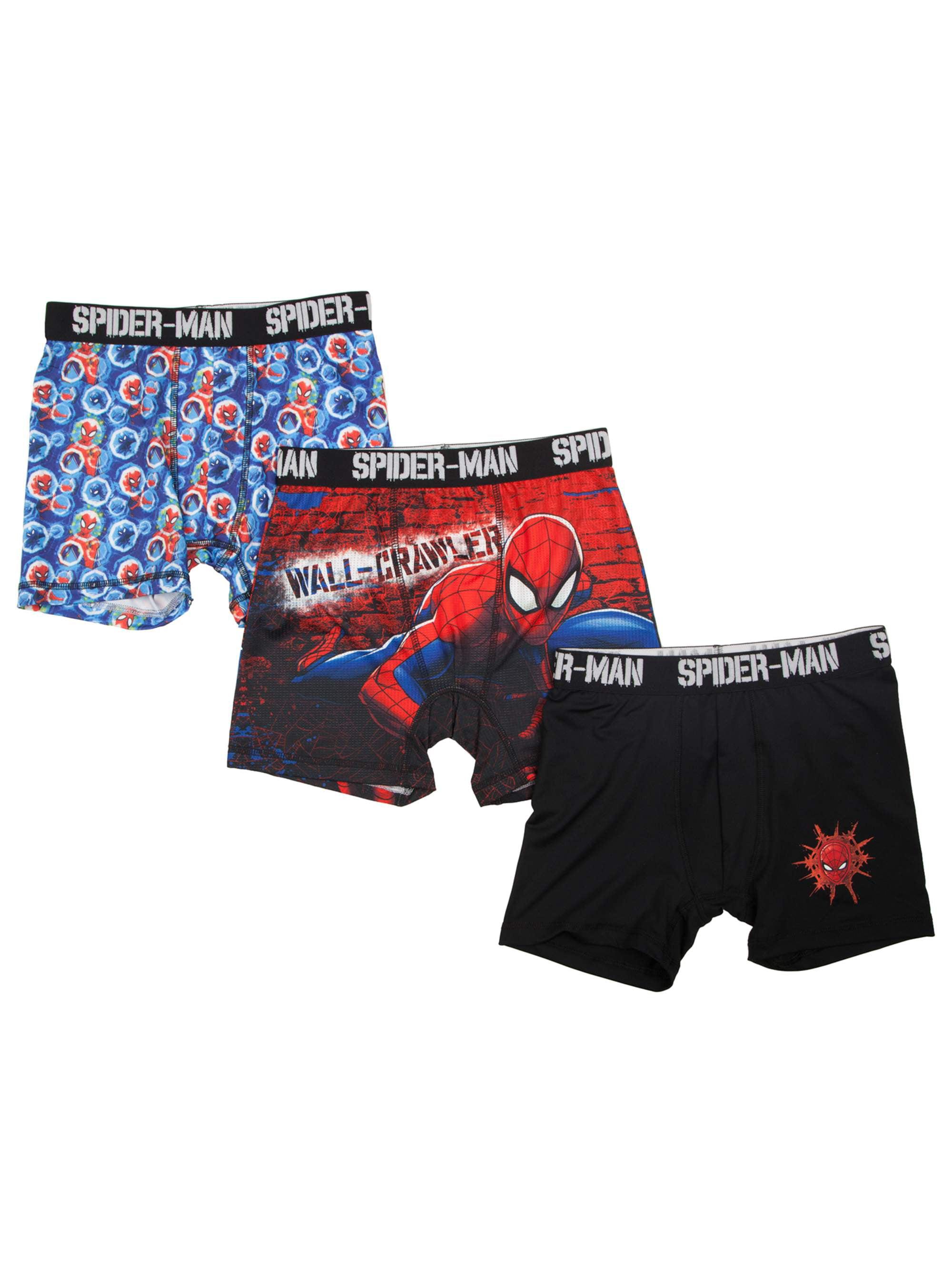 Boy's Spider-Man Poly Boxer Briefs, 3 Pack