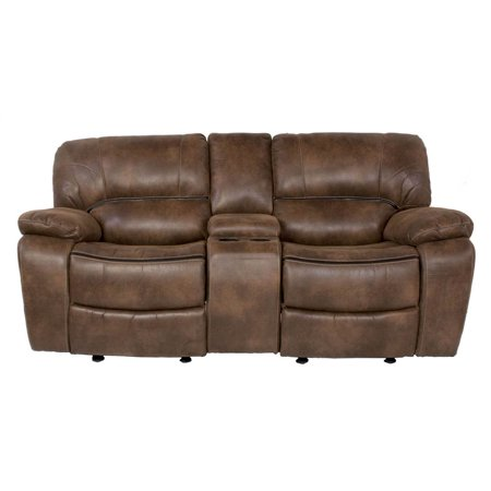 Dual Rocking Reclining Loveseat With Console