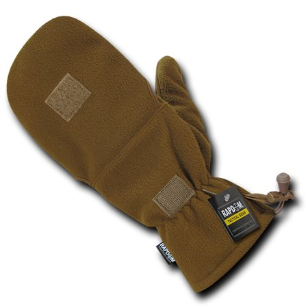 Fleece Shooter's Mittens, Coyote, S