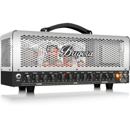 Tube Guitar Head (Bugera T50 Infinium Cage-Style 2-Channel Guitar Tube Amp Head w/ Multi-Class A/AB Operation & Reverb - 50 Watt)
