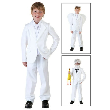 White Zoot Suit Costume (Child White Suit Costume)