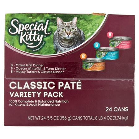 special kitty classic pate variety pack wet cat food 5 5 oz 24 ct best cat food. Black Bedroom Furniture Sets. Home Design Ideas