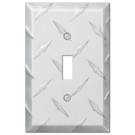 Amerelle 955T Garage, Diamond Cut Cast Aluminum Toggle Wallplate, Chrome