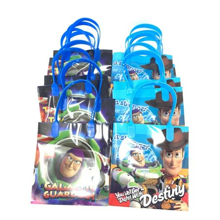 Disney Toy Story 4 Party Favor Goodie Small Gift Bags, pack of 12 - Toy Story Party Decorations