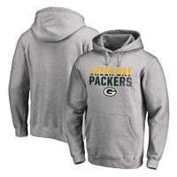 Green Bay Packers NFL Pro Line by Fanatics Branded Iconic Collection Fade Out Pullover Hoodie - Ash