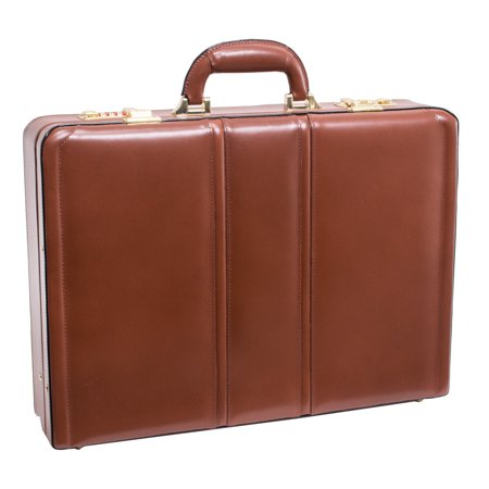 Daley Leather Attache Case - Brown