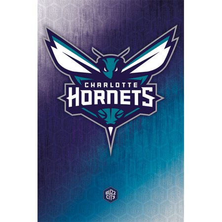 Trends International Charlotte Hornets Logo Wall Poster 22 375  X 34