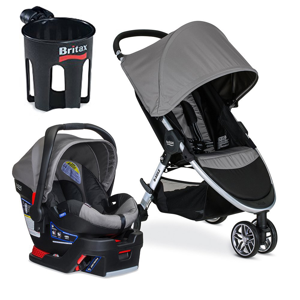 Britax 2017 B-Agile/B-Safe 35 Travel System with Cup Hold...