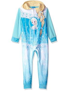 Disney Girls' Frozen Elsa Hooded Blanket Sleeper, Blue, Size: 6