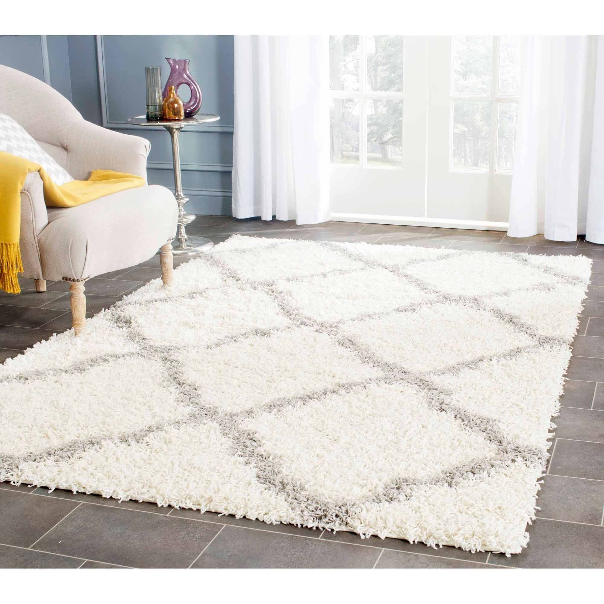 improvement luxury grey white area home photos rug rugs of flooring shag best