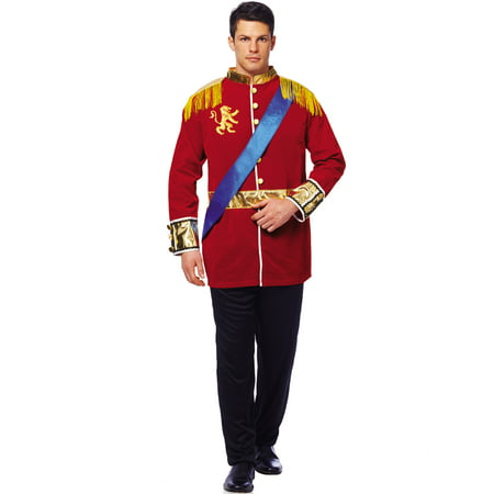 Mens Classic Prince Charming Cinderella Halloween Costume Adult Xl