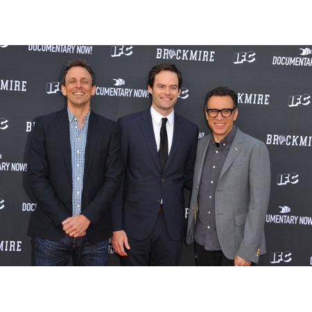Seth Meyers Bill Hader Fred Armisen At Arrivals For Ifc�S Brockmire And Documentary Now For Your Consideration Red