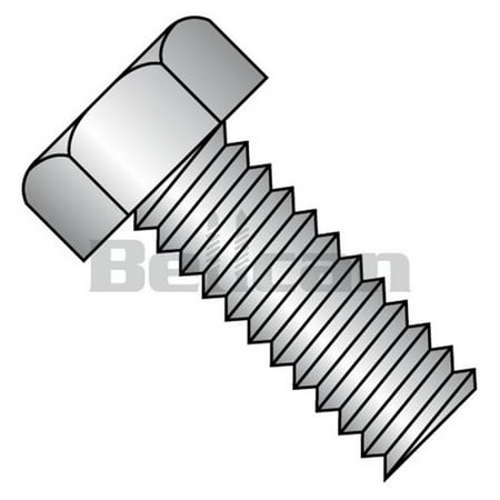 No.6-32 x 0.25 Unslotted Indented Hex Head Fully Threaded Machine Screw - 18-8 Stainless Steel - Box of 5000 - image 1 of 1