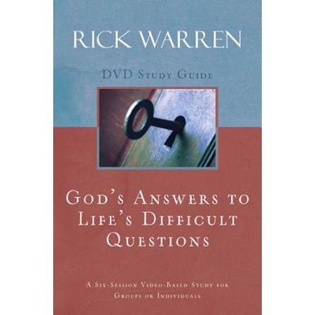 God's Answers to Life's Difficult Questions Study (The Cay Study Guide Questions And Answers)