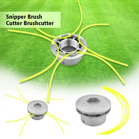 WALFRONT Universal Aluminium Strimmer Head Trimmer Heads String Set Grass Brush Cutter Accessory, String Trimmer, Strimmer