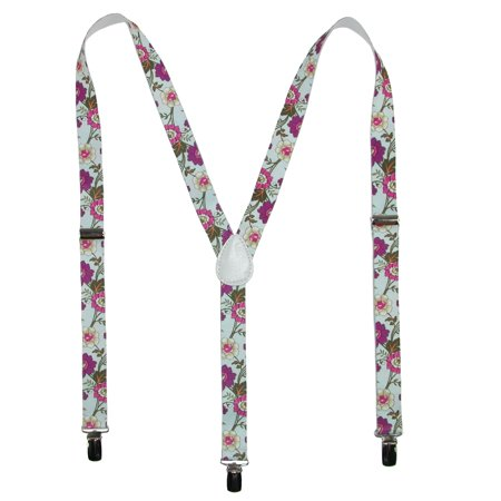 Parquet Women's Elastic Wild Flower Print Novelty Suspender - image 3 of 3