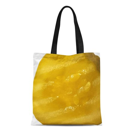 SIDONKU Canvas Tote Bag Fun Funny Pickle Slice Humorous Pickles Food Novelty Gag Reusable Handbag Shoulder Grocery Shopping Bags - Novelty Purses