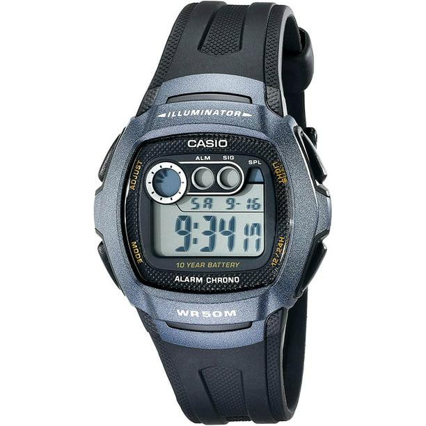 Men's Classic Digital Watch, Black Resin Strap