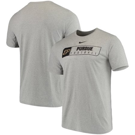 Purdue Boilermakers Nike Football Primary Sport Logo Performance T-Shirt - Heathered Gray ()