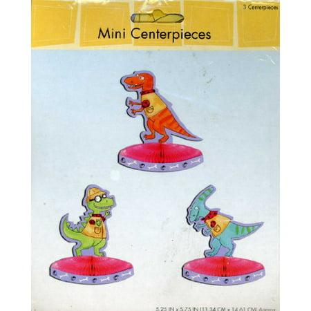 Dinosaurs Honeycomb Mini Centerpieces, Set of 3](Dinosaur Centerpiece Ideas)