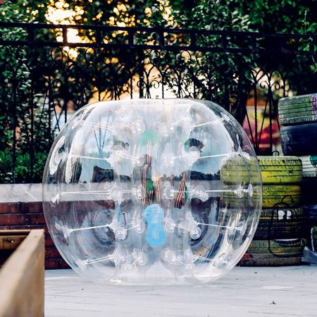 BestEquip Inflatable Bumper Ball 4FT Bubble Soccer Ball 0.8mm Eco-Friendly PVC Zorb Ball Human Hamster Ball for Adults and Kids