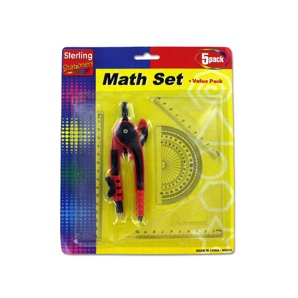 Math Measuring Set With Pencil (Pack Of 24)