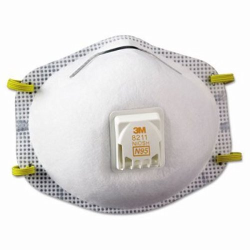 3m 8211 Particulate Respirator 8211, N95, 10 box by 3M