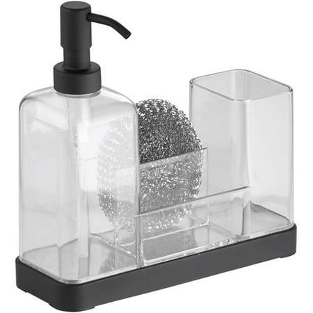 InterDesign Forma Soap Dispenser Pump and Sponge Caddy Organizer