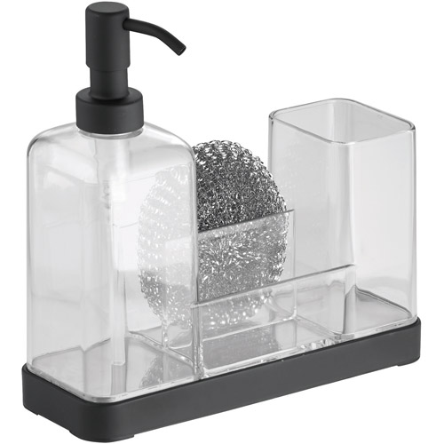 InterDesign Forma Soap Dispenser Pump and Sponge Caddy Organizer