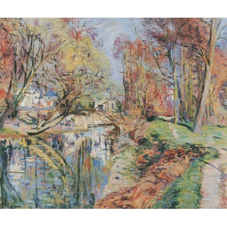 Framed Art for Your Wall Guillaumin, Jean -Baptiste Armand - The banks of the Orge in Epinay, Ile de France near Paris 10 x 13 Frame
